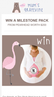 Mums Grapevine – Win a Milestone Pack (prize valued at $200)