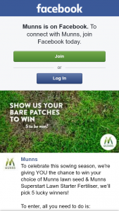 Munns – Win Your Choice of Munns Lawn Seed & Munns Superstart Lawn Starter Fertiliser