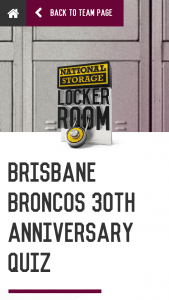 National Storage Locker Room – Win 2 Tickets to The Game