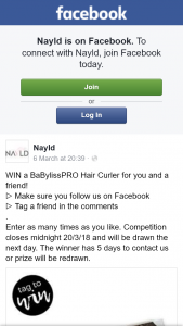 Nayld – Win a Babylisspro Hair Curler for You and a Friend