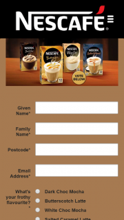 Nestle Australia – Win One of Twenty Nescafe Frothy Favourite Packs (prize valued at $129)