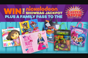 Nickelodeon – Win 1 of 5 Prize Packs Including a Family Pass to The Sydney Royal Easter Show (prize valued at $30)