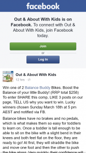 OAAWK – Win One of 2 Balance Buddy Bikes