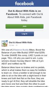 OAAWK – Win One of 2 Balance Buddy Bikes