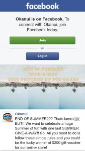 Okanui – Win $200 Voucher