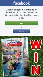Orion Springfield Central – Win One of Five Sherlock Gnomes Family Passes