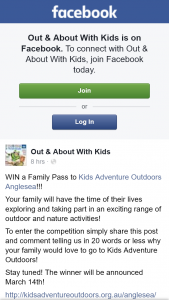 Out & About With Kids – Win a Family Pass to Kids Adventure Outdoors Anglesea