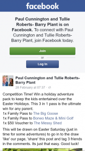 Paul Cunnington and Tullie Roberts Barry Plant – Win a Holiday Adventure Pack to Keep The Kids Entertained Over The Easter Holidays