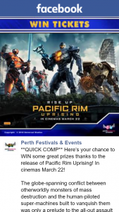 Perth Festivals & Events – Win All You Need to Do Is (prize valued at $62.2)