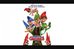 Perth Now – Win Tickets to Sherlock Gnomes closes 12 Noon