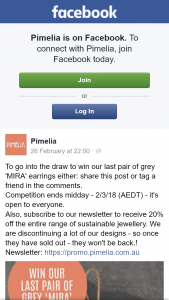 Pimelia – Win Our Last Pair of Grey 'mira' Earrings Either