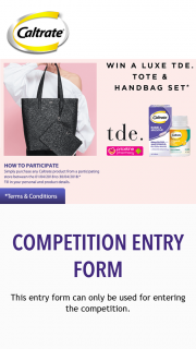"Priceline – ""win a Tde Tote & Handbag Set (prize valued at $499.95)"