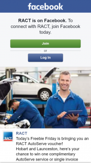 RACT – Win One Complimentary Autoserve Service Or Single Invoice Repair to The Value of Up to $200.