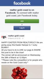 Realtor Gold Coast – Win Easter Hamper Must Live Gold Coast