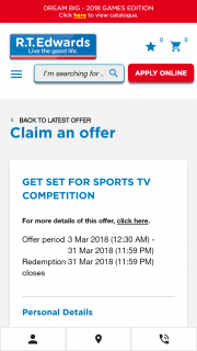 "RT Edwards ""Qld Residents"" Rent or Buy to – Win a Lg 65inch Wallpaper Oled Uhd Smart Tv (prize valued at $9,995)"