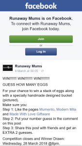 Runaway Mums – Win a Stack of Eggs Along With a Specially Handmade Designed Bucket (pictured).