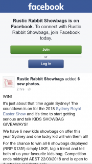 Rustic Rabbit – Win Them All (prize valued at $135)