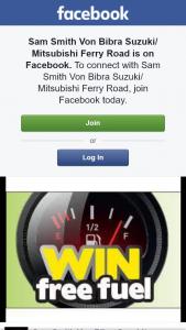 Sam Smith Von Bibra Suzuki- Mitsubishi Ferry Road – Win 1 of 2 $50 Fuel Vouchers (prize valued at $100)
