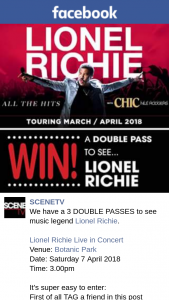 SceneTV – Announced By Facebook and Email