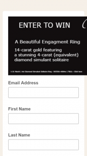 Secrets Shhh – Win a 4ct Diamond Simulant Solitaire Ring