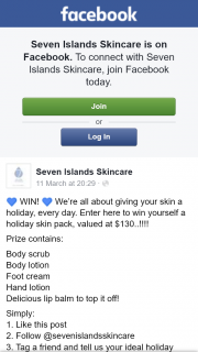 Seven Islands Skincare – Win Yourself a Holiday Skin Pack (prize valued at $130)