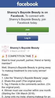 Shanny's Bayside Beauty – Win a Makeup Treatment