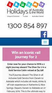 Shop-A-Docket – Holidays of Australia – Win an Iconic Rail Journey for 2 Promotion Terms & Conditions (prize valued at $4,138)