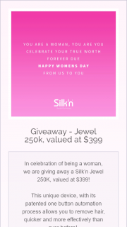 Silk'n – Competition (prize valued at $400)