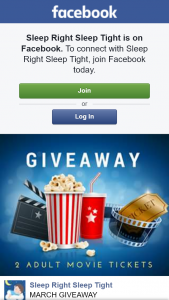 Sleep Right Sleep Tight – Win $40 Event Cinema Voucher (prize valued at $40)