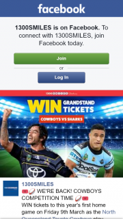 1300SMILES – Win Tickets to this Year's First Home Game on Friday 9th March As The North Queensland Toyota Cowboys Play Against The Cronulla Sharks at 1300 Smiles Stadium