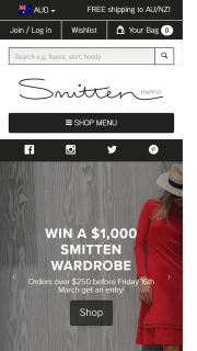 Smitten – Win a $1000 (aud) Wardrobe Promotion Begins March 8 2017 at Midday and Ends March 15 2017 at Midnight Aedst (prize valued at $1,000)