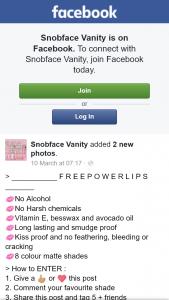 Snobface Vanity – Win Powerlips Lip Gloss