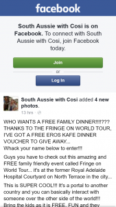 South Aussie With Cosi – Win a Eros Kafe Dinner Voucher