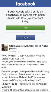 South Aussie With Cosi – Win a Family Pass to Disney on Ice??
