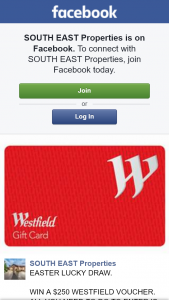 South East properties – Win a $250 Westfield Voucher (prize valued at $250)