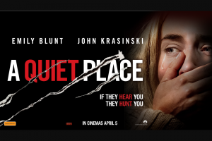 Spotify – Win Gold Class / Hoyts Australia Lux Double Passes to a Quiet Place (currently Sitting on 100% on Rotten Tomatoes).
