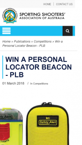 SSAA – Win a Personal Locator Beacon (prize valued at $299)