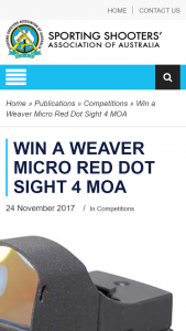 SSAA – Win a Weaver Micro Red Dot Sight 4 Moa (prize valued at $190)