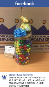 Storage King Townsville – Win this Jar Full of Eggs and a $50 Coles-Myer Voucher