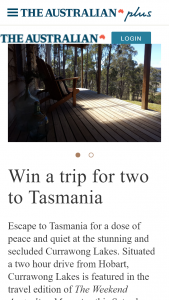 The Australian Plus – Win a Trip for Two to Tasmania Terms & Conditions (prize valued at $2,100)