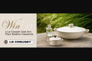 The Cove magazine – Win One of Three Cast Iron Fleur Shallow Casseroles (prize valued at $599)