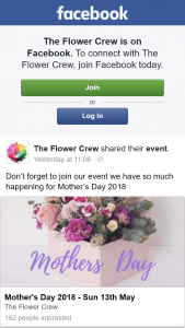 The Flower Crew – Win a $50 Gift Voucher (prize valued at $50)