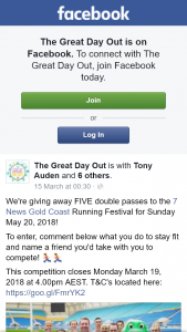 The Great Day Out – Win One of Five Double Passes to Gold Coast Running Festival