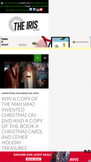 The Man Who Invented Christmas Dvd.The Iris Win A Copy Of The Man Who Invented Christmas On D