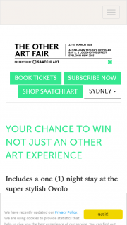 The Other Art Fair Sydney – Win 2 VIP Ticket Package to The Other Art Fair Woolloomooloono Travel Included (prize valued at $2,068)