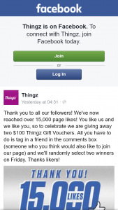 Thingz – Win 1 of 2 $100 Thingz Gift Vouchers