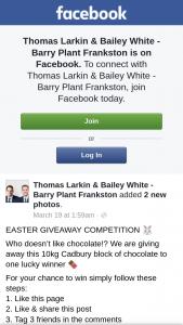 Thomas Larkin & Bailey White – this 10kg Cadbury Block of Chocolate to One Lucky