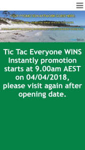 Tic Tac – Win Various Prizes Instantly