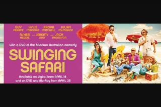 Visa Entertainment – Win 1 of 20 Swinging Safari DVDs