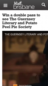 VisiTBrisbane – Win a Double Pass to See The Guernsey Literary and Potato Peel Pie Society